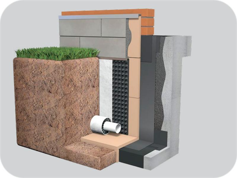 Aislamiento perimetral, permite reducir las pérdidas energéticas producidas por la base del edificio.