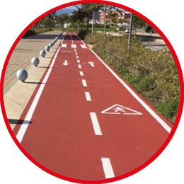 Instalación y colocación carril bici