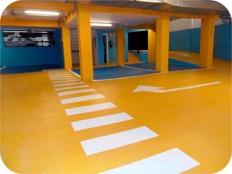 Sistema pavimentación para garajes
