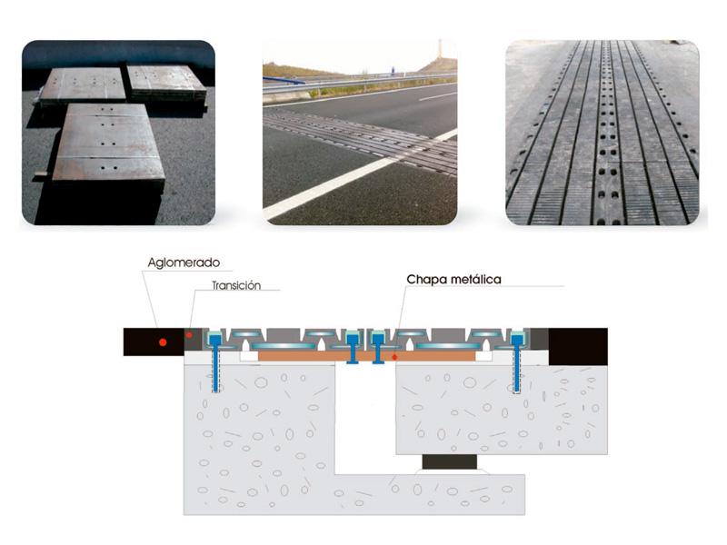 Juntas-dilatación de tableros puente de-gran-recorrido-en-Tanden