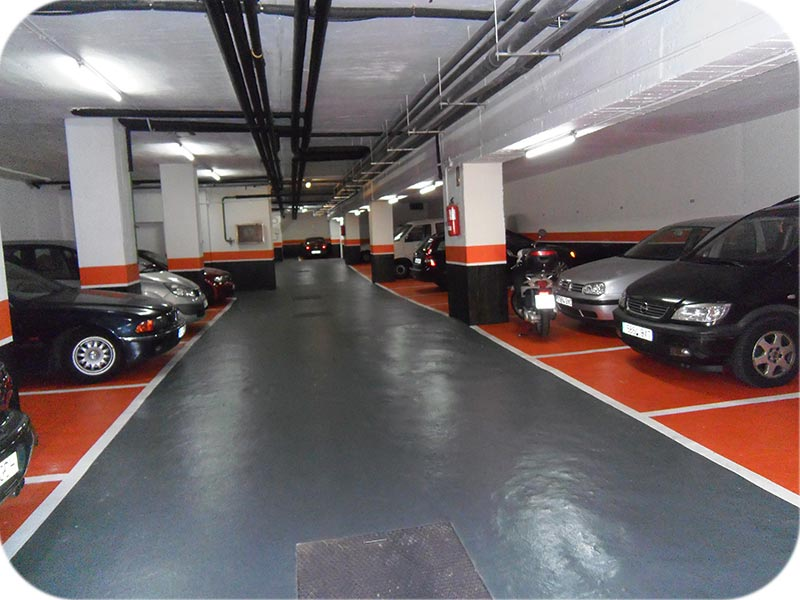 Pavimento para garajes sobre hormigón
