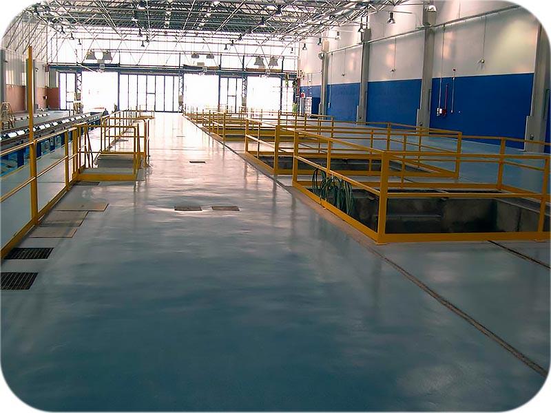 pavimentos de interior sobre hormigón en interiores logísticos